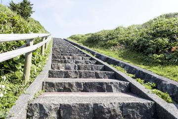 爪木崎公園の石階段