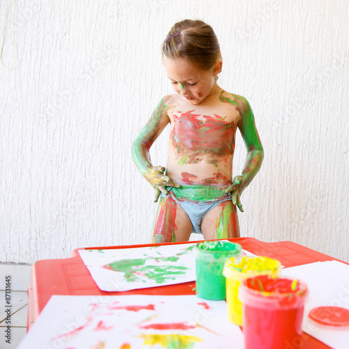 Naked boy painting 9