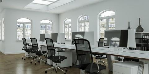 Großraumbüro in Altbau