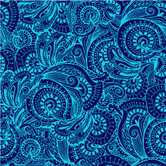 Seamless pattern in oriental style vector illustration