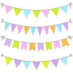 Colorful and bright vector bunting