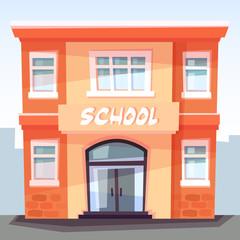 School building, back to school, education concept, vector