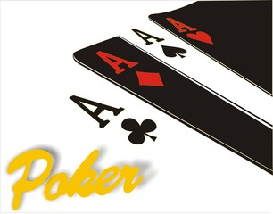Poker Aces black and white
