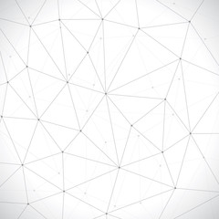 Abstract background, geometry, lines and points, vector wallpaper