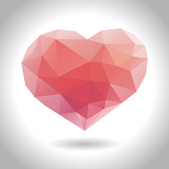 Geometrical heart, vector illustration