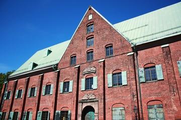 Kronhuset under blue sky in Gothenburg Sweden