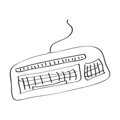 Simple doodle of a keyboard
