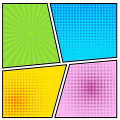 Abstract Creative concept vector comics pop art style blank