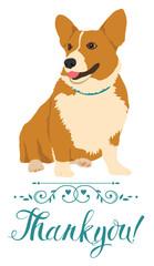 Corgi printables   Etsy  Thank You Cute Corgi Puppy