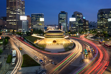 Foto op Canvas Seoel Sungnyemun Namdaemun Gate in Seoul Korea