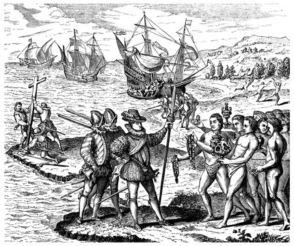Ch. Columbus : Discovering  America - year 1492