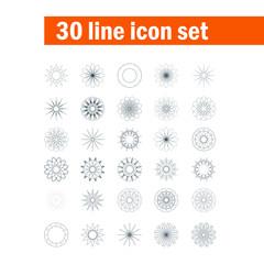 Set of thirty angular abstract vector icons
