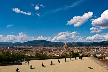 "panorama of Florence from the fortress ""Belvedere""  , Italy"