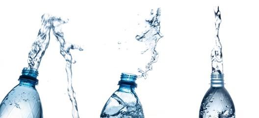 Water, Bottle, Splashing.