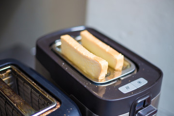 Modern design of the bread toaster