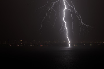 Mother Nature/ lightning over the bay