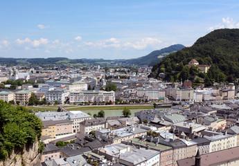 View across the Austrian city of Salzburg