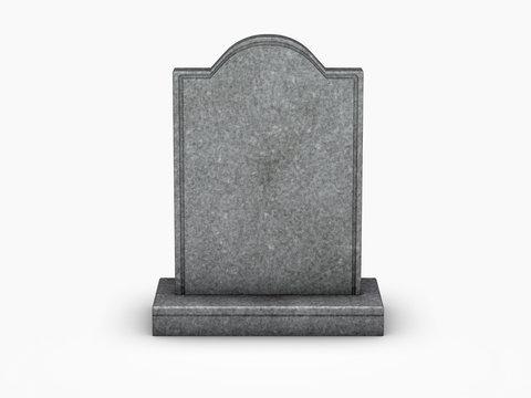 gravestone on white background