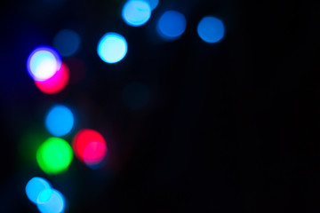 bokeh abstract background, selective focus