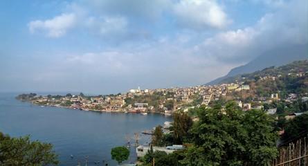 Scenic View of San Pedro La Laguna, Lake Atitlan, Guatemala, Central America