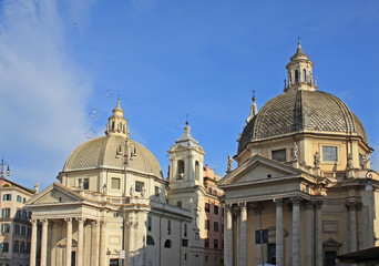 Twin churches in Rome