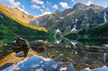 Fototapeta Morskie Oko, górski staw, Rysy, Montain's lake obraz