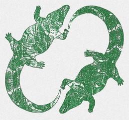 The green stone crocodiles