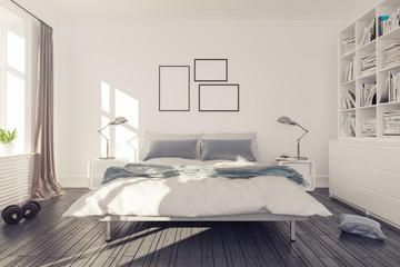 Interior Rendering of bed room