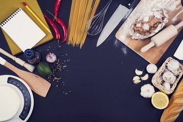 Kitchen or restaurant and food hero header
