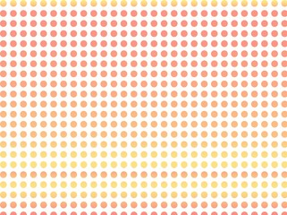 淡いおしゃれなドット柄 / ドットが可愛いオレンジピンクのグラデーション背景です。