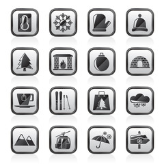 Winter, Sport and relax icons - vector icon set