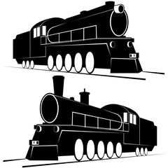 Abstract vintage locomotives-1