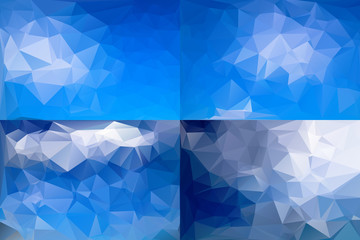 Abstract Polygonal Background Set. Vector Illustration