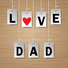 tag vector design elements, love dad