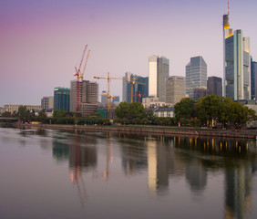 Skyscrapers in the center of Frankfurt, Germany