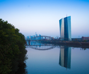European Central Bank at the River Main in Frankfurt, Germany