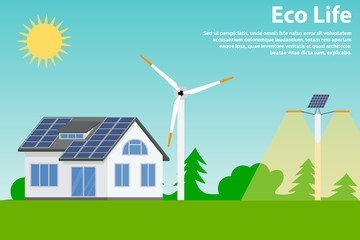 Preserving the environment and using renewable energy sources