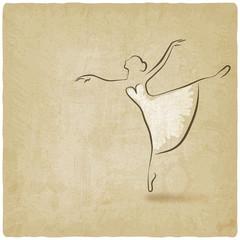 ballerina dancing studio symbol