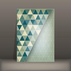 brochure flyer geometric template design