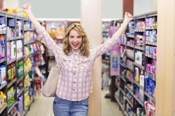 Portrait of a happy smiling blonde woman