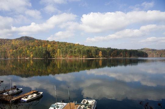 Lake Glenville in the Fall near Cashiers, North Carolina