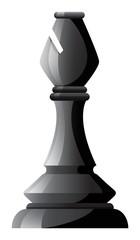 Black chess bishop on white