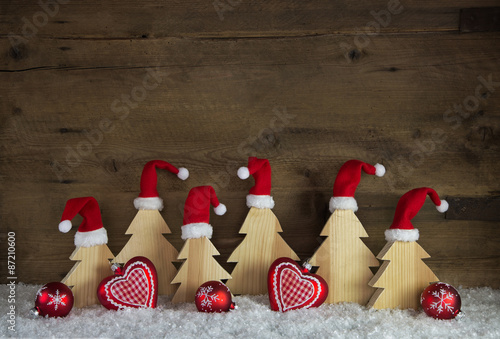 klassische dekoration zu weihnachten holz hintergrund. Black Bedroom Furniture Sets. Home Design Ideas