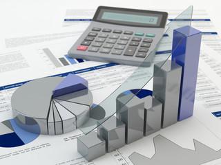 Financial graph 3D
