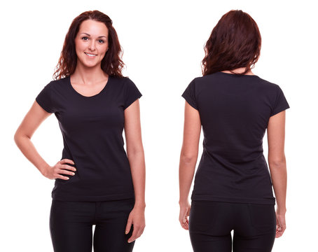 Young woman in black shirt