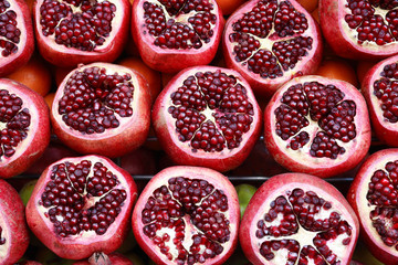 Pomegranates Background