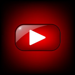 Red Video Button EPS 10