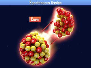 Spontaneous fission very heavy of chemical elements