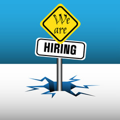 We are hiring signpost