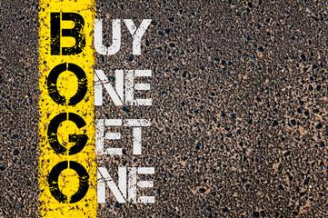 Business Acronym BOGO as Buy One Get One